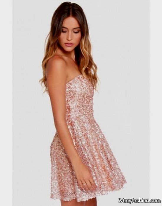 rose gold sequin party dress 2016-2017 | B2B Fashion