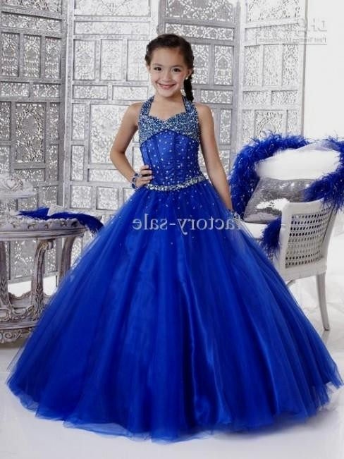 Flower girl dresses royal blue wedding dresses in jax for Royal blue and silver wedding dresses