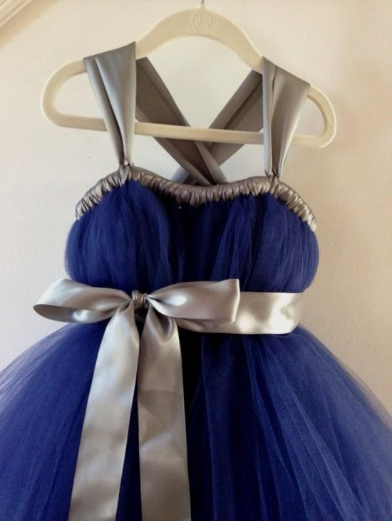 pics for gt royal blue and silver flower girl dresses