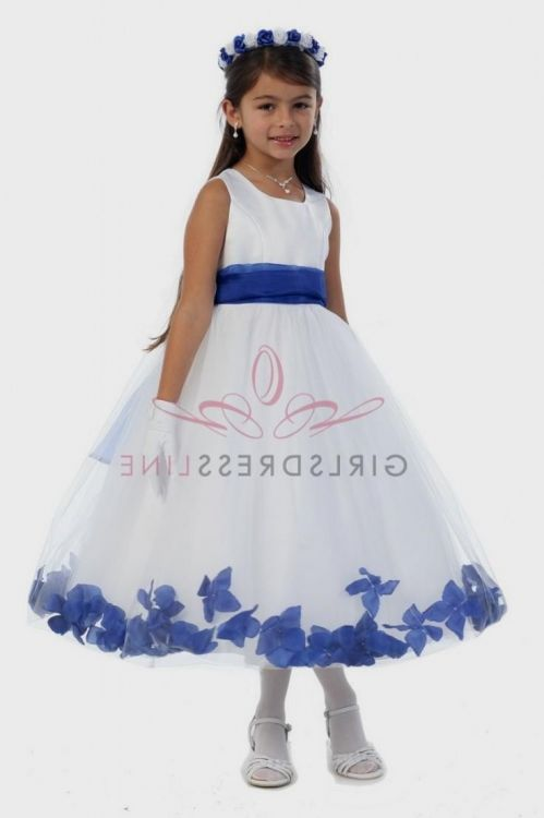 royal blue and silver flower girl dresses 20162017 b2b