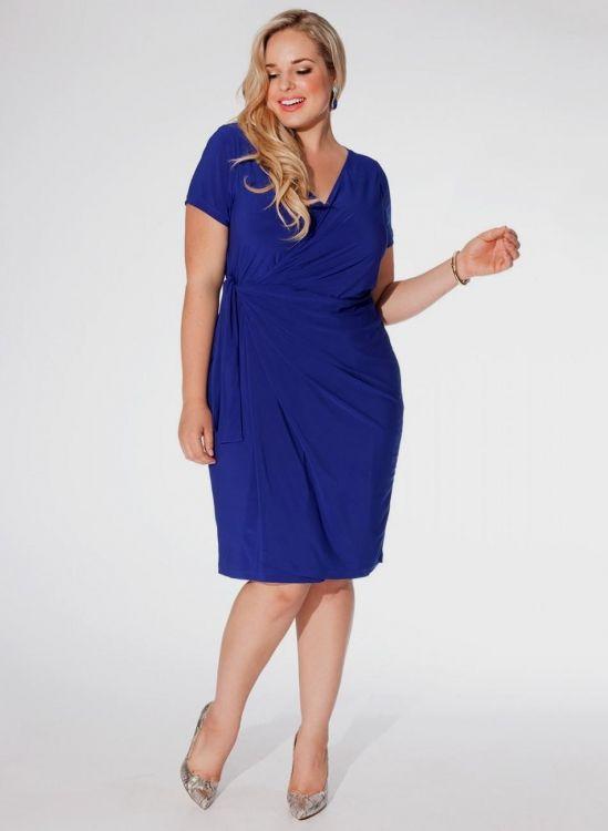 Plus size royal blue cocktail dresses