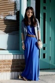 royal blue maxi dress casual 2016-2017 » B2B Fashion