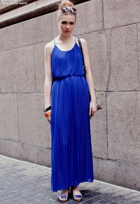 Royal Blue Maxi Dress Casual Looks B2b Fashion