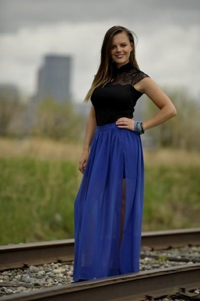 Royal Blue Maxi Dress Forever 21 Looks B2b Fashion