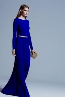 royal blue maxi dress with sleeves 2016-2017 » B2B Fashion