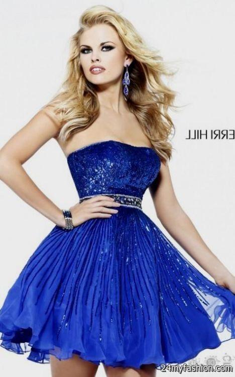 Blue short prom dresses 2014