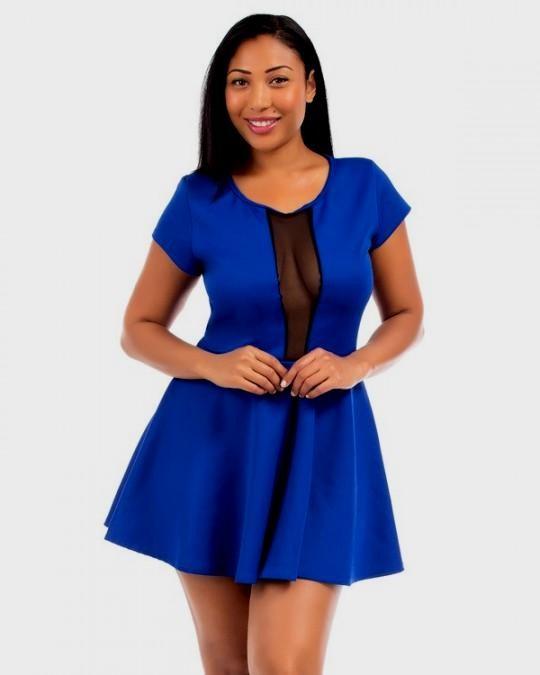 royal blue skater dress plus size 2016-2017 | B2B Fashion