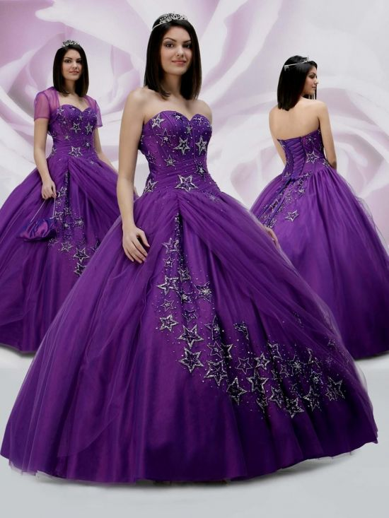 royal purple ball gown 2016-2017