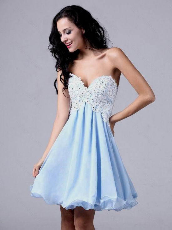 Semi Formal Dresses For 8th Graders Blue Looks B2b Fashion