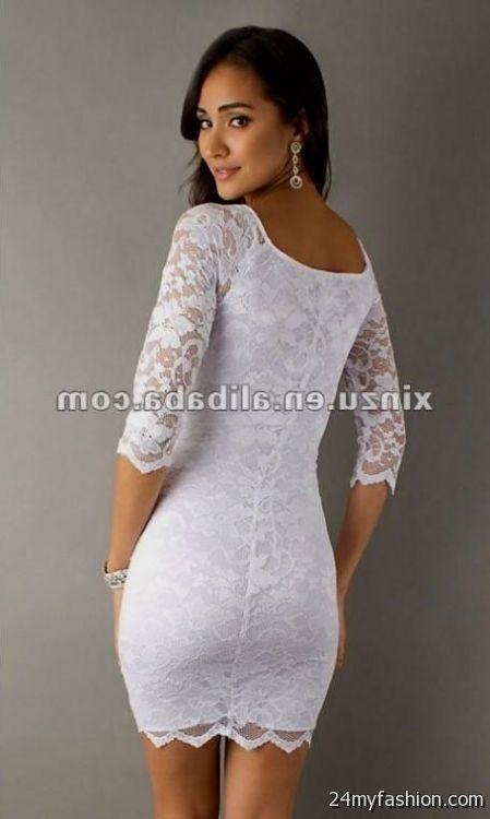 sexy short white lace dresses 20162017 b2b fashion