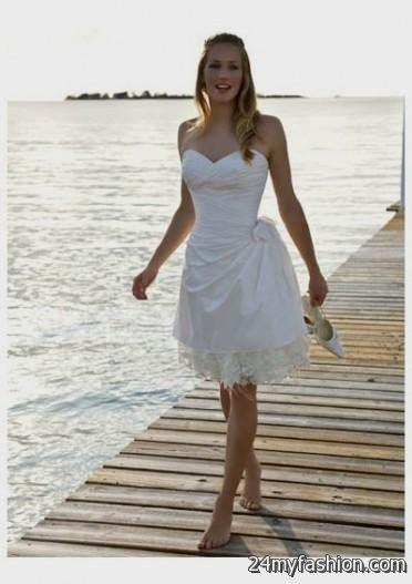 Short beach wedding dress 2016 2017 b2b fashion for Cocktail dress for beach wedding