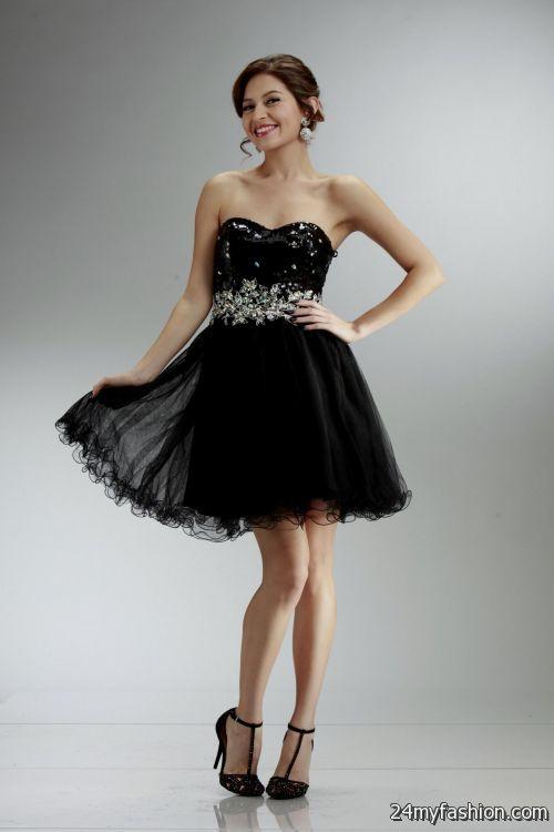 Short Black Formal Dresses For Juniors Looks B2b Fashion
