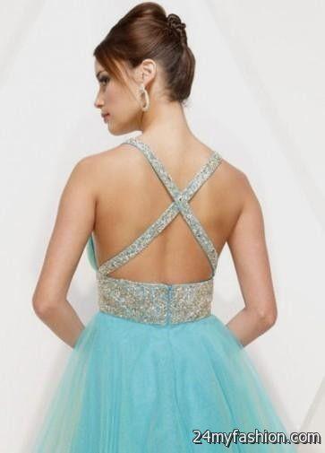 short blue prom dresses with straps 20162017 b2b fashion