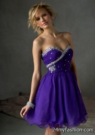 short dark purple prom dresses 2016-2017 » B2B Fashion