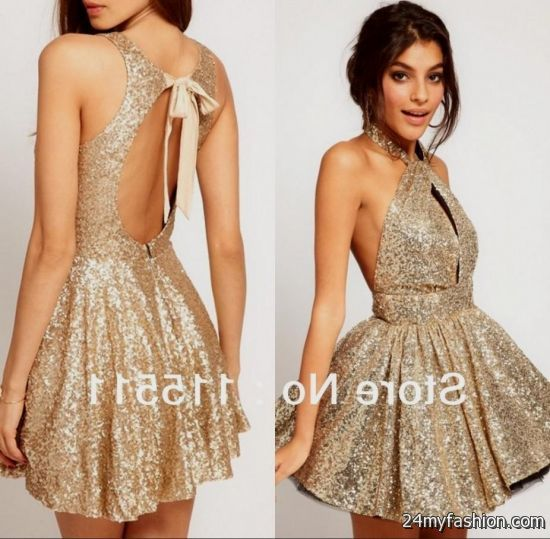 Short Gold Formal Dresses 2016 2017 B2b Fashion