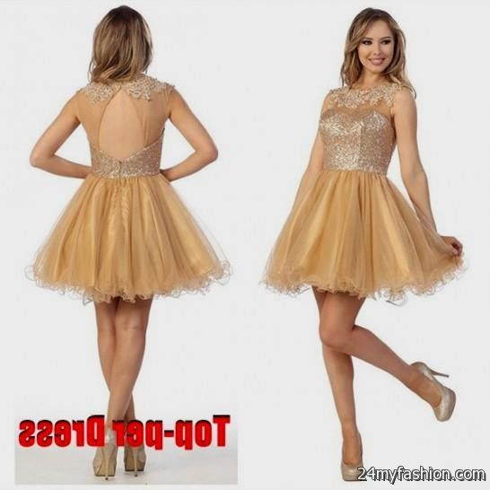 Short Dresses in Gold – Fashion dresses