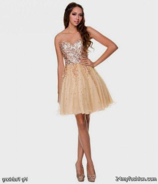 short gold prom dresses perfect 2016-2017 » B2B Fashion