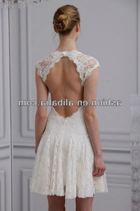 Short Lace Country Wedding Dresses