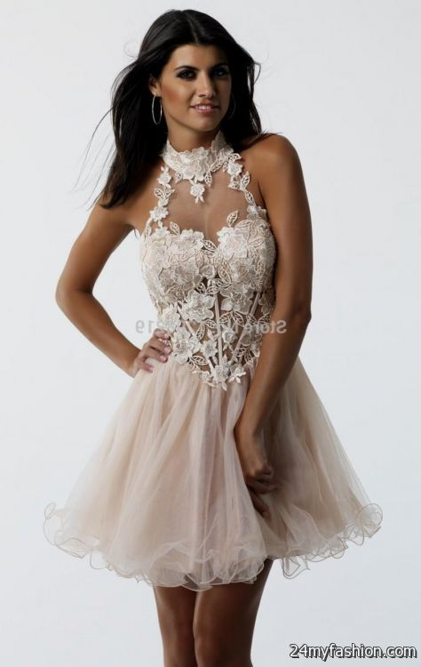 Collection Short Lace Prom Dress Pictures - Reikian