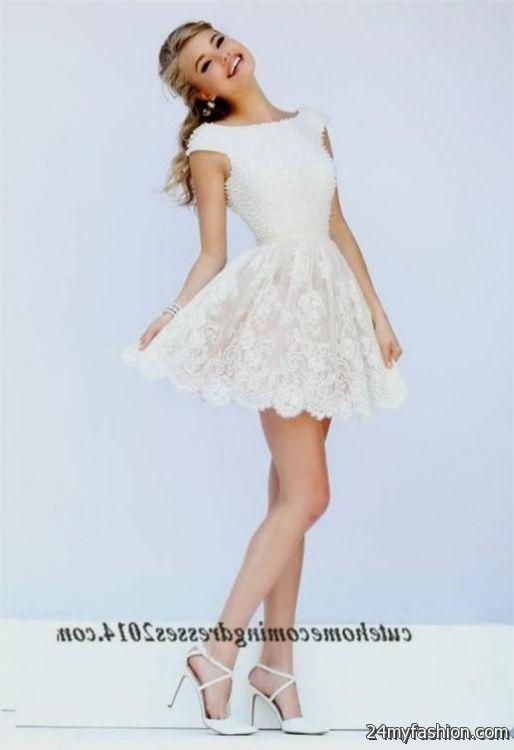 short lace prom dresses looks | B2B Fashion