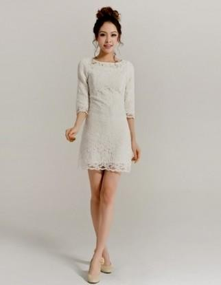 Wedding Dresses With Lace Sleeves Short 121