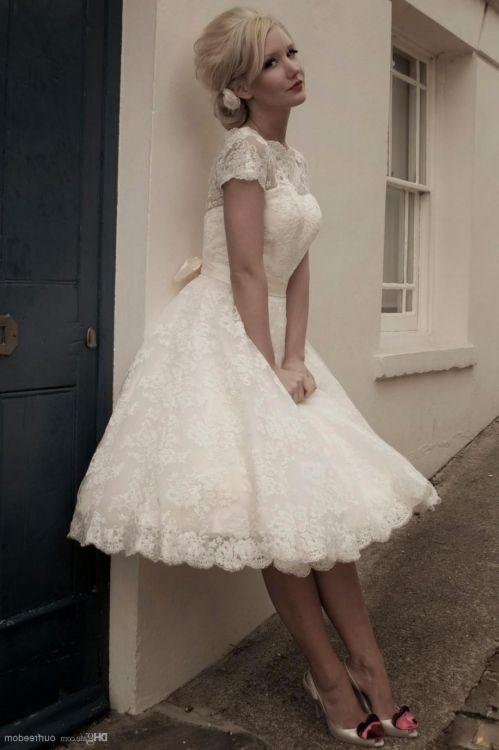 Short Lace Wedding Dresses 2016 2017