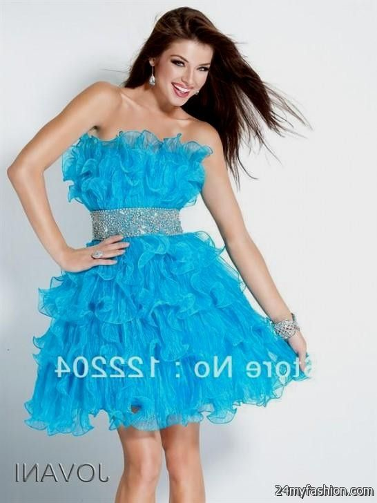 short light blue prom dresses elegant 20162017 b2b fashion