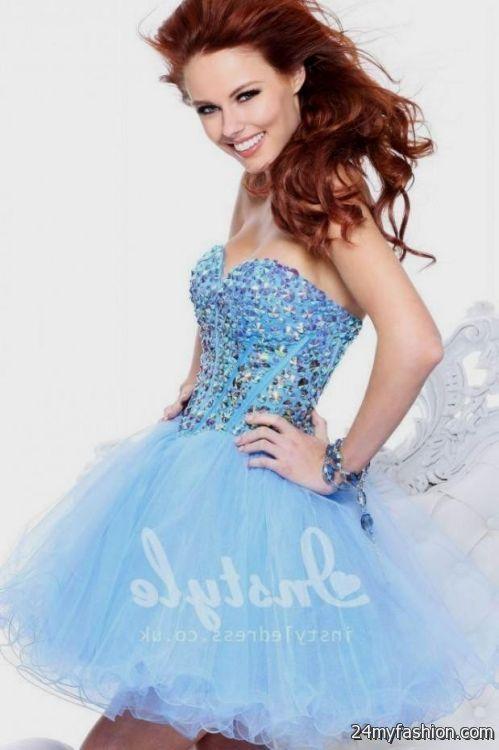 Light Blue Sparkly Dress