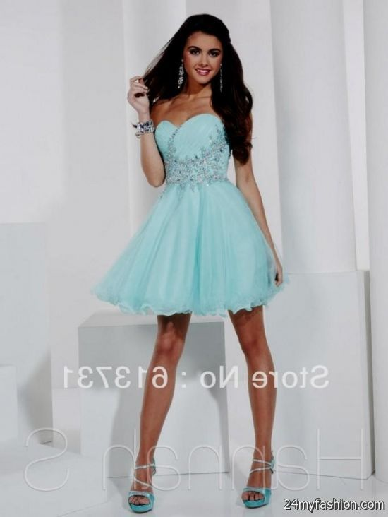 Short Light Blue Prom Dresses Elegant 2016 2017 B2b Fashion