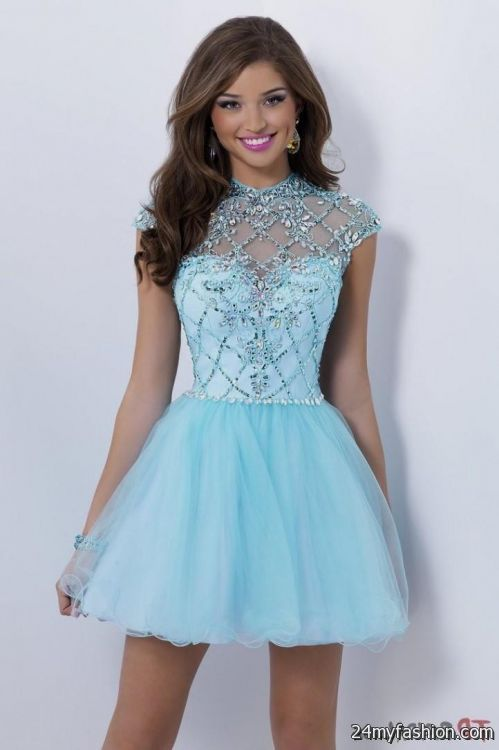 Short Light Blue Prom Dresses Looks B2b Fashion