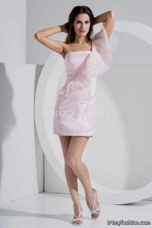 short light pink bridesmaid dress 2016-2017 | B2B Fashion