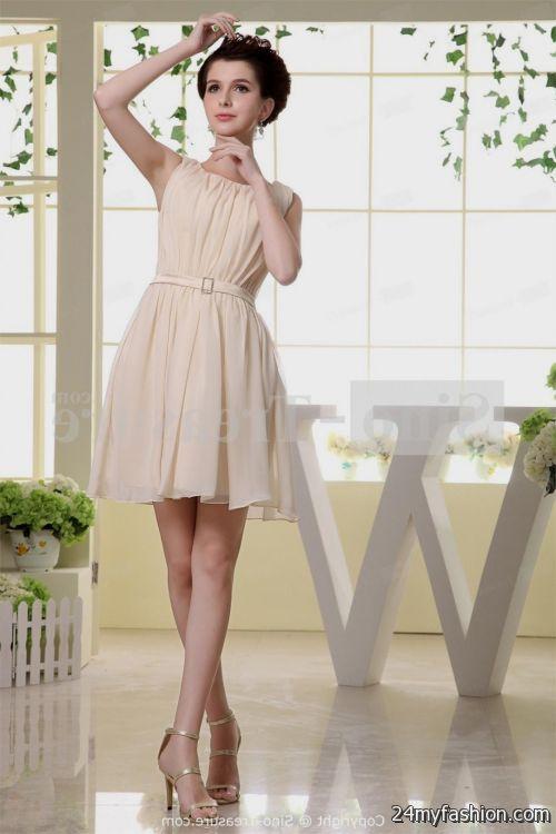 short light pink bridesmaid dresses chiffon 2016-2017 | B2B Fashion