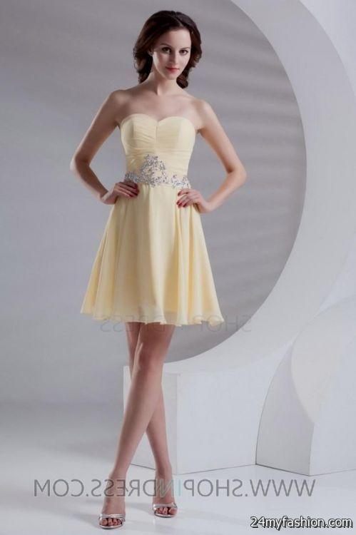 short light yellow prom dresses 2016-2017 | B2B Fashion
