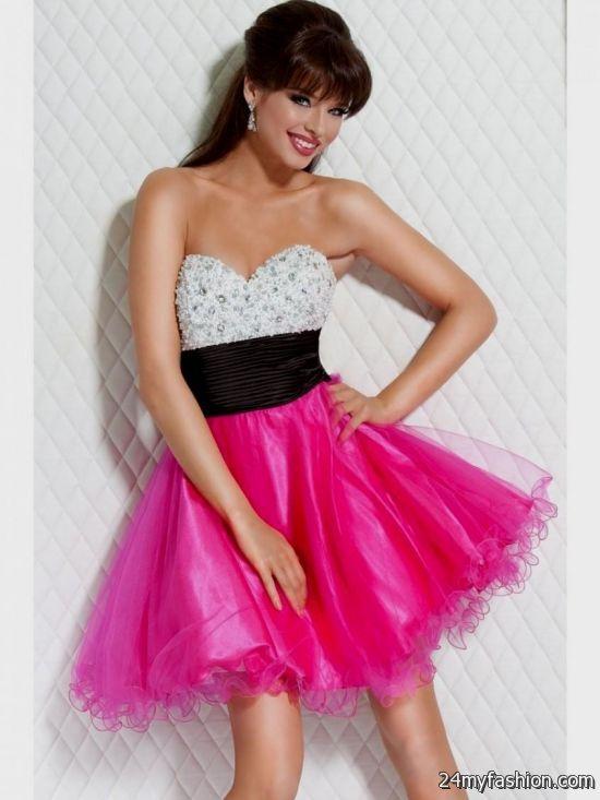 Short Neon Pink Prom Dresses Looks B2b Fashion