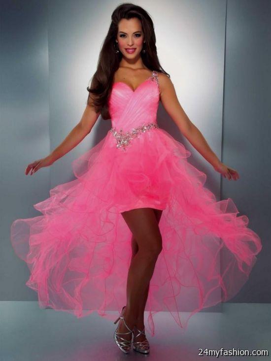 Short Neon Pink Prom Dresses 2016 2017 B2b Fashion