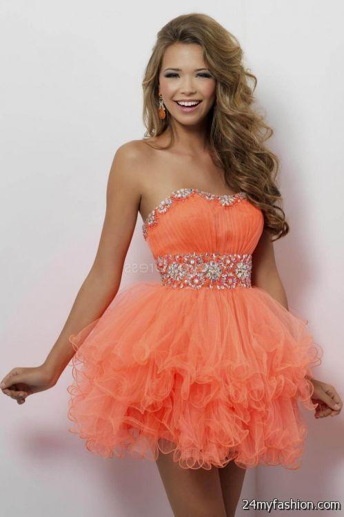 short orange prom dresses 2016-2017 » B2B Fashion