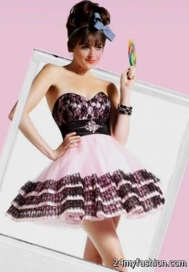 short pink and black prom dresses 20162017 b2b fashion
