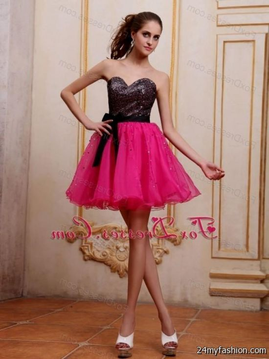 short pink and black prom dresses 20162017 b2b fashion
