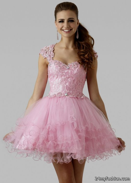 short pink lace prom dresses 2016-2017 | B2B Fashion