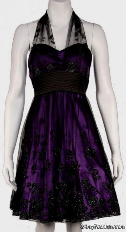 short purple and black dresses for prom 2016-2017 » B2B Fashion