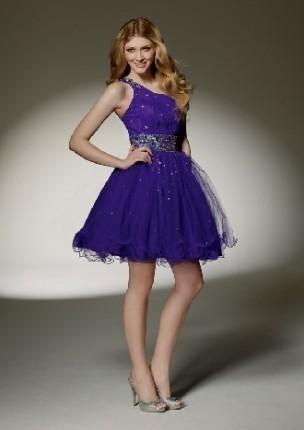 short purple prom dresses with straps 2016-2017 | B2B Fashion