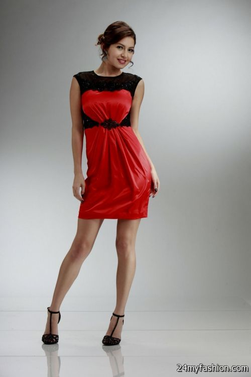 short red and black homecoming dress 2016-2017 » B2B Fashion