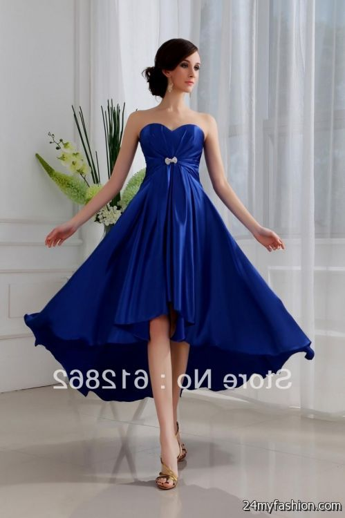 Short royal blue bridesmaid dresses 2016 2017 b2b fashion for Royal blue short wedding dresses