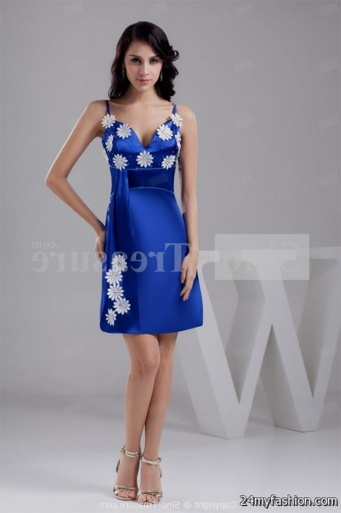 Royal blue bridesmaid dresses short wedding dresses in jax for Royal blue short wedding dresses