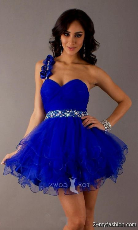 Images of Short Royal Blue Prom Dresses - Reikian