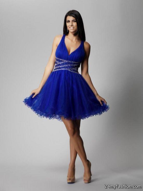 short royal blue prom dresses with straps 20162017 b2b