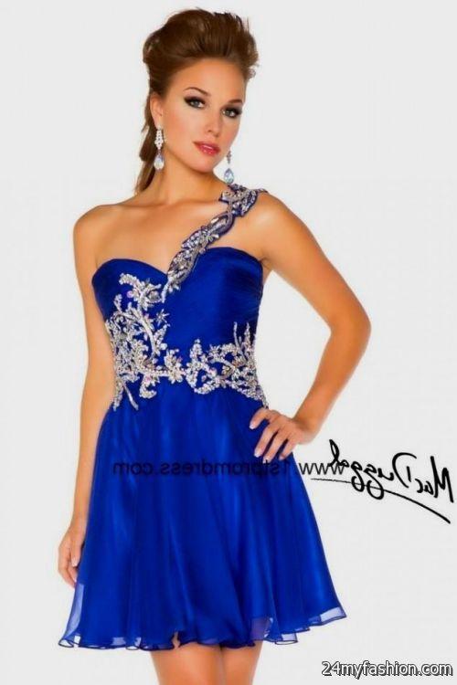 short royal blue prom dresses with straps looks b2b fashion