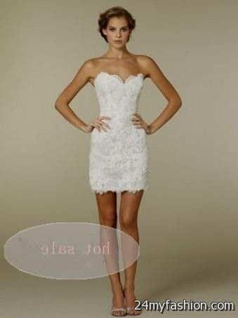 Sexy Lace Wedding Dress Short