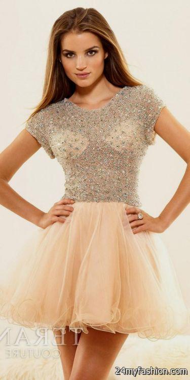 Sleeve Short Prom Dresses