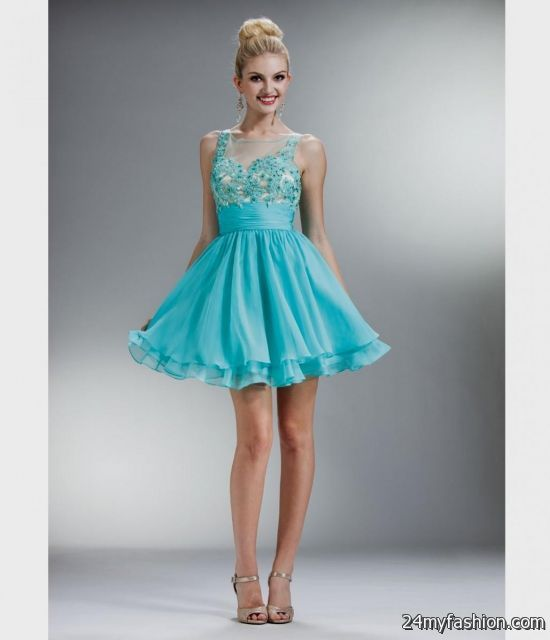 short tiffany blue prom dresses 2016-2017 | B2B Fashion